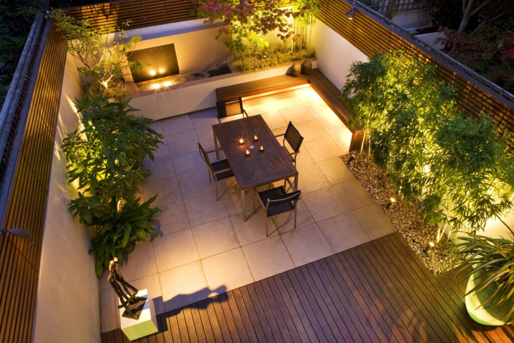 Garden Lighting Installation